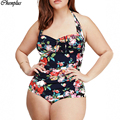 Xl-5xl 2016 um pedaço swimsuit plus size swimwear bodysuit verão estilo venda online maillot de bain