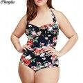 Xl-5xl 2017 um pedaço swimsuit plus size swimwear bodysuit verão estilo venda online maillot de bain