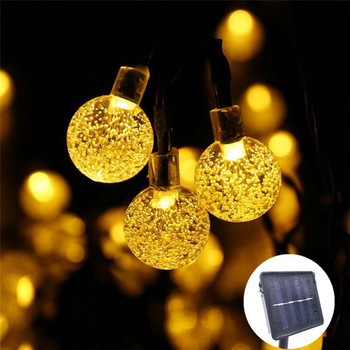 50 LEDS 10M Crystal Ball Solar Lamp
