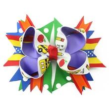 5 inch mathematical elements DIY children bowknot ornaments headdress hairpin, let love school mathematics