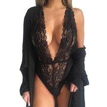 Hot New Women Sexy Deep V Neck Lace Lingerie Sleepwear Dress Underwear Babydoll Nightgown Black nightdress chemise de nuit