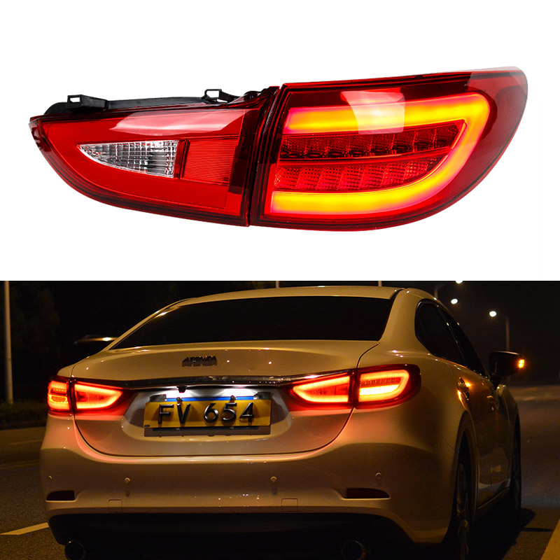 Car Styling for Mazda 6 Atenza 2013~2018 LED Tail Light New Mazda6 LED Tail Lamp LED DRL Signal Brake Reverse auto Accessories