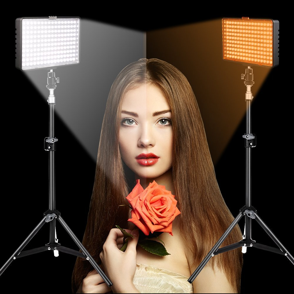 Capsave TL-160S 4 juegos de luz de vídeo LED iluminación fotográfica 5600K CRI85 Luz de estudio para YouTube sesión de fotos Panel de lámpara LED - 6