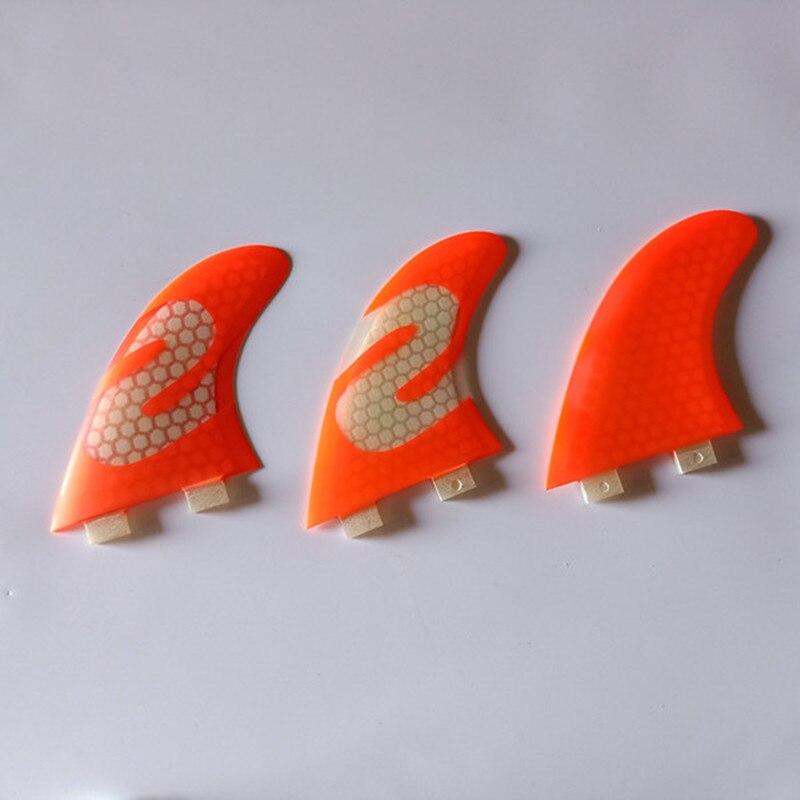 Ailerons de planche de surf couleur Orange FCS G7