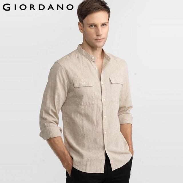 Camisa Mao Camisa cuello mao Detalle de cuello y bolsillo en 8706fa469f1