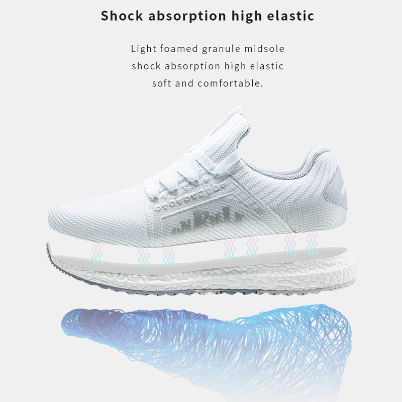 ONEMIX Men's Running Shoes Outdoor Zapatillas Hombre White Casual Walking Shoes Breathable Jogging Sneakers Woman Sneakers