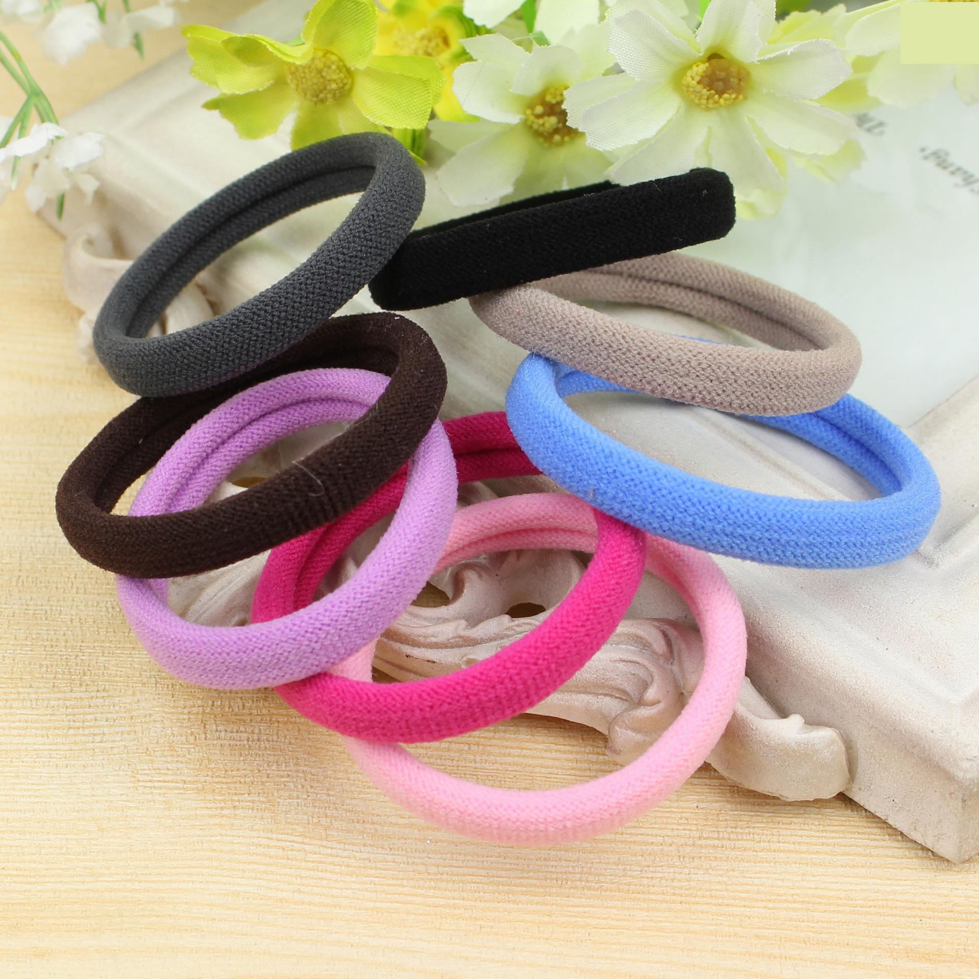 10Pc Hair Scrunchy Rope Elastics Hairbands Tie Headwear Kids Hair Accessories