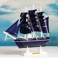 Estilo mediterrâneo barco à vela de madeira artesanato em madeira decoartion casa náutico decor presente criativo