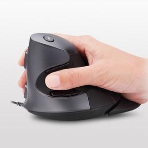 Image 3 - Delux ratón ergonómico Vertical M618 BU, 6 botones, 800/1200/1600 DPI, derecho, óptico, con almohadilla para muñeca para PC y portátil