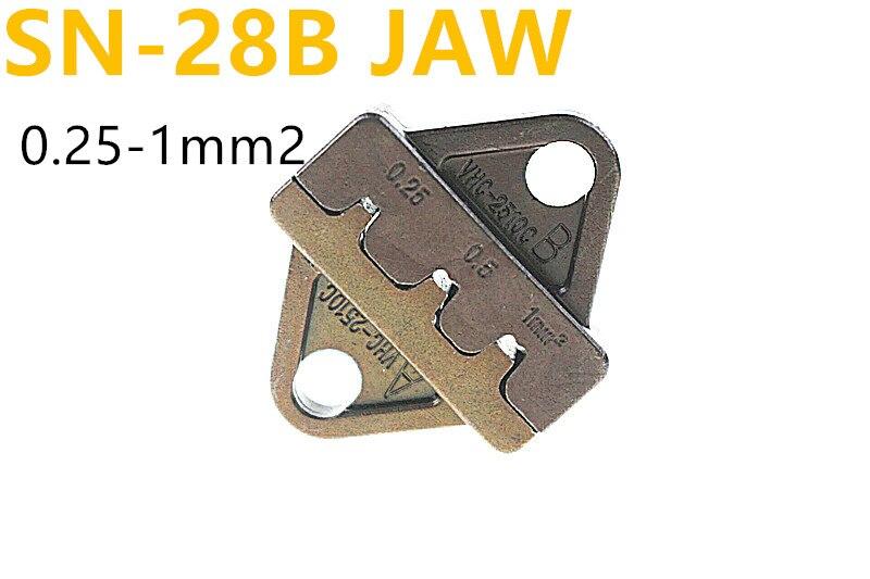 Werkzeuge Zangen Bescheiden Sn-28b Kiefer Geeignet Kabel 0,25-1mm Crimpen Zangen Reisen
