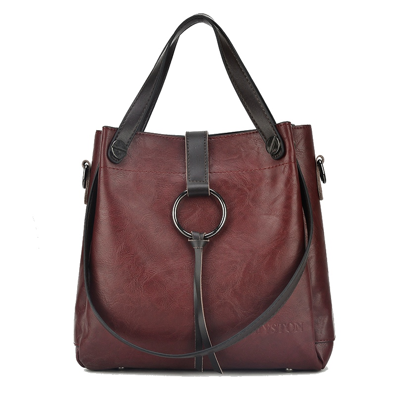 High Quality Leather Handbags Big Women Bag Casual Female Bags Vintage Women Shoulder Bag Crossbody Messenger Bags Ladies Totes