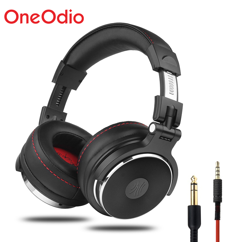 Oneodio Over Ear Gaming Headset Monitor Headphones With 3.5/6.3mm Audio Jack Deep Bass Hifi DJ Headphones With Stereo Microphone oneodio dj headset earphone with microphone pc wired over ear hifi studio dj headphone professional stereo monitor urbanfun