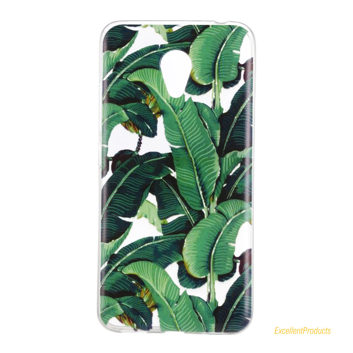 Flexible Transparent Ultra Thin Back Cover Of Painted Fruit lemon Tpu cell phone bags case cover for Meizu M3S