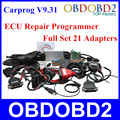 A+++Quality ECU Chip Tuning Tools CARPROG V9.31 Full Sets Car Prog Full Repair Programmer Interface All 21 Adapters