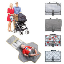 Newborns Foldable Waterproof Baby Diaper Changing Mat Portable Changing Pad Portable Multifunction Baby Mat Clean Diapers new(China)