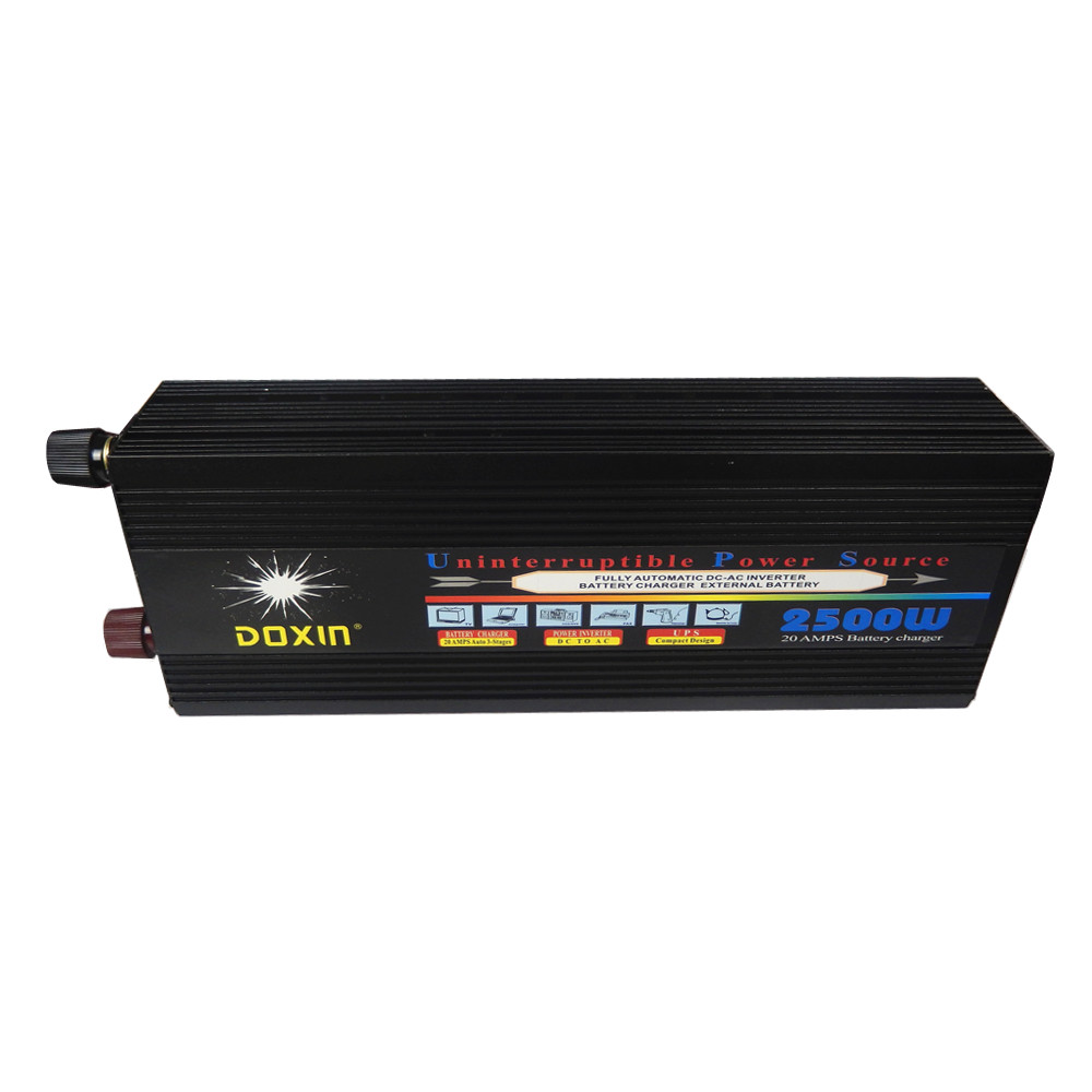 цена на 2500W DC 12V/24V input to AC 220V output Modified Sine Wave Inverter With fast battery Charging UPS function peak power 5000W