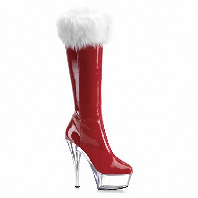 2016 Fashion Design Women Knee High Boots Sexy Red Bottom High Heels Suede and Pu Leather Women Boots Autumn and Winter Shoes