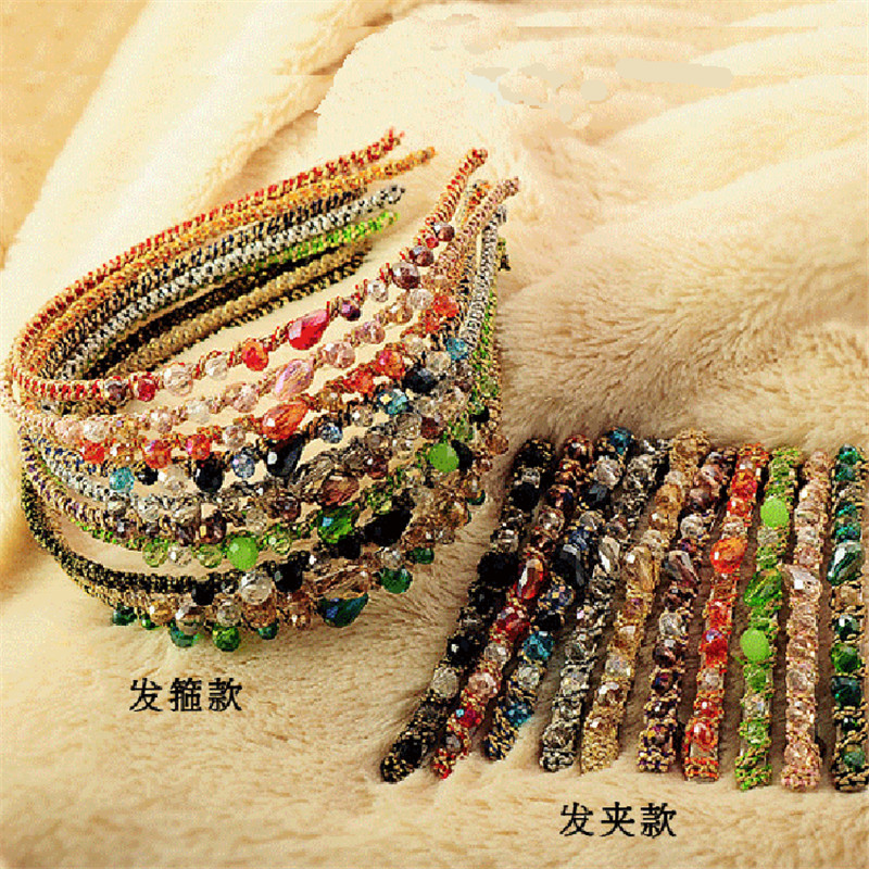 Bling Crystal Hairpins Headwear for Women Girls Rhinestone Hair Clips Pins Barrette Styling Tools Accessories QW19 in Women 39 s Hair Accessories from Apparel Accessories