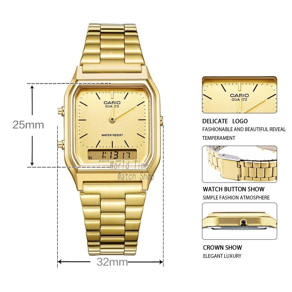 913df53ae5ee Comprar Reloj Casio analógicas de los hombres de cuarzo reloj deportivo  diseño ligero estudiante ver AQ 230 Online Baratos.