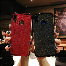 P20 Pro Case Glitter TPU Cover For Huawei P10 P9 Mate 20 10 Lite Nova 4 3 Honor 9 7X 8X Y5 Y6 Prime Y9 2018 Silicone Phone Cases(China)