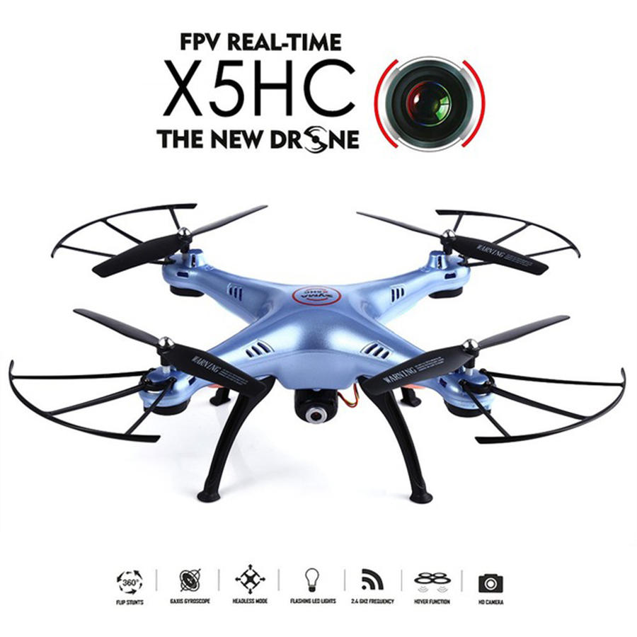 SYMA X5HC 4 CH 2 4GHz 6 Axis RC Quadcopter With 2MP HD Camera AUTO Hovering