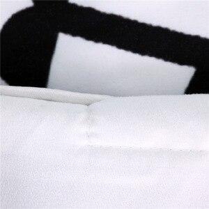 Image 4 - CAMMITEVER Schwarz Weiß Lotus Bettwäsche Set König Druckte Duvet Abdeckung Hause Textilien Mikrofaser Bettwäsche 3 Stück
