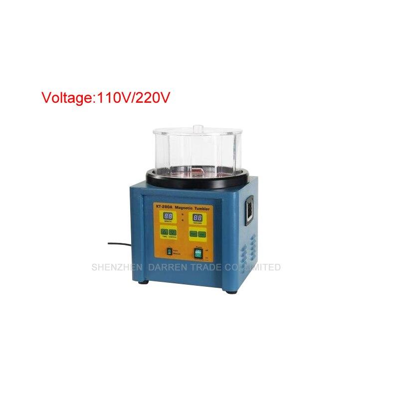 110V/220V KT-280 1100g Ferromagnetic Powerful Magnetic Tumbler Powerful Electric Magnetic Polishing Machine
