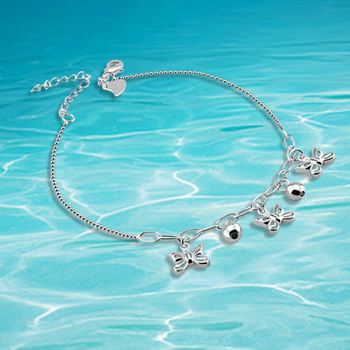 Fashion women butterfly anklet ,brand jewelry anklet foot jewelry leg jewelry