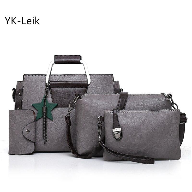 2018 European and American brand women composite bag Luxury handbags Popular tassel shoulder Messenger bags leather handbag