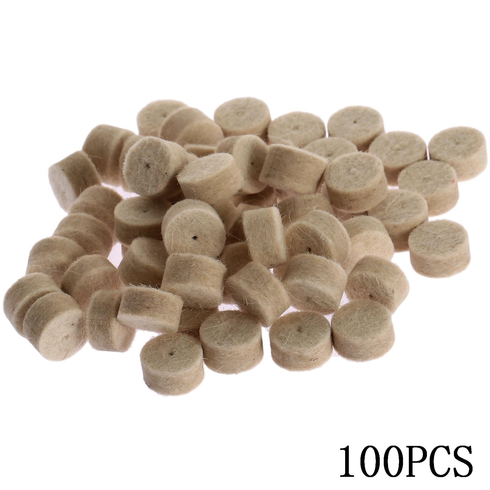 100 pezzi Dremel accessori 13 mm lana feltro lucidatura lucidatura - Utensili elettrici - Fotografia 3