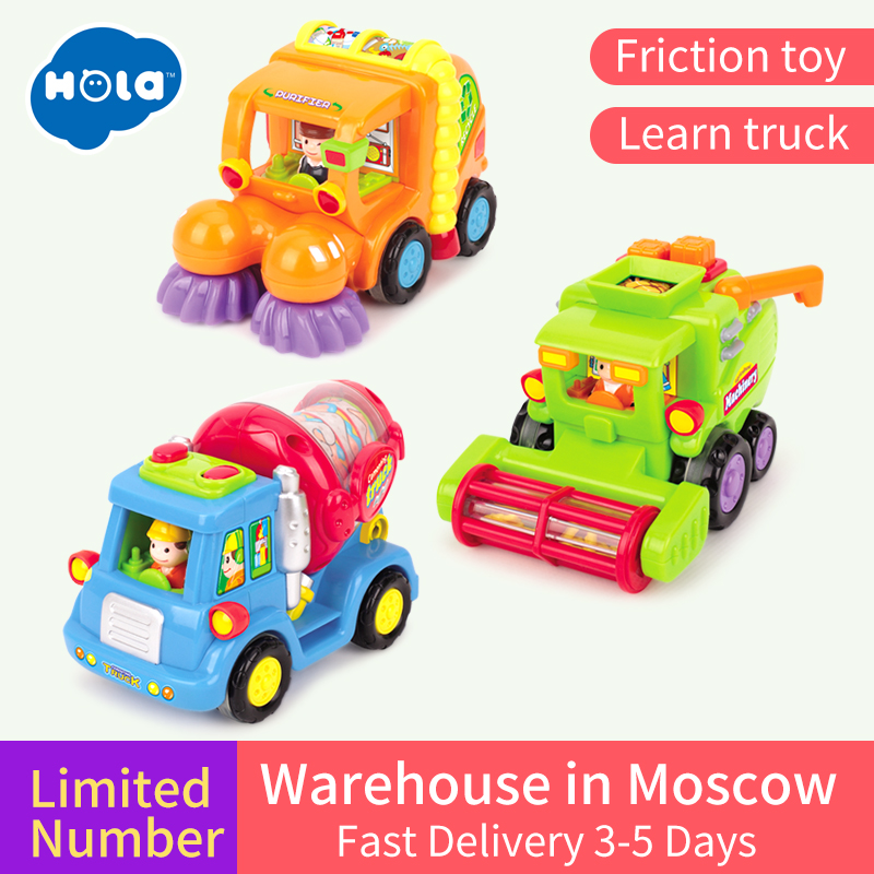 все цены на HUILE TOYS 386ABC Wholesale Baby Toys Push & Go Friction Powered Car Toy Trucks Children Pretend Play Toys Great Xmas Gifts онлайн