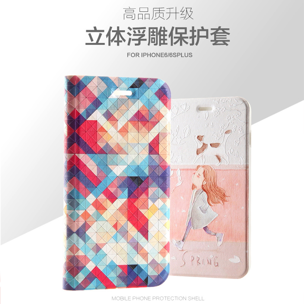 POEME CREATION Mobile Phone Accessories Fashion Soft PU TPU Wallet Design Mobile Phone Case for iPhone X 6 6S 7 8 Plus