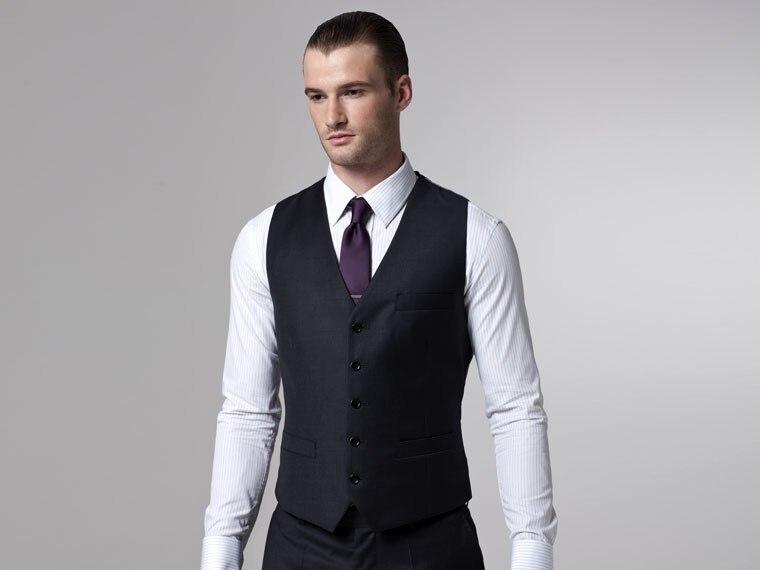 Man Black Suits Skinny Jackets Pants Vest Tailor Made Slim Fit ...