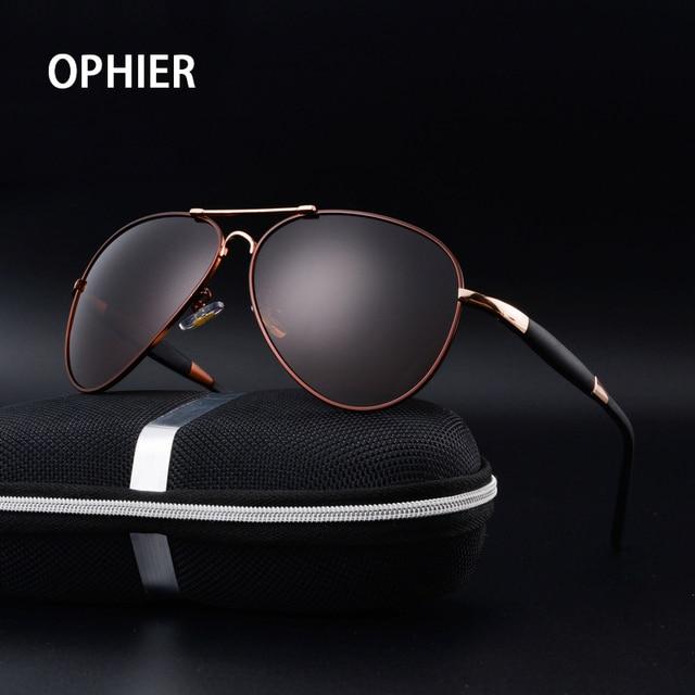 OPHIER Металла Высокого Качества Солнцезащитные Очки Мужчины Поляризовыванная Марка Дизайнер Очки Мужской Вождения Зеркало Солнцезащитные Очки Gafas Óculos Де Золь
