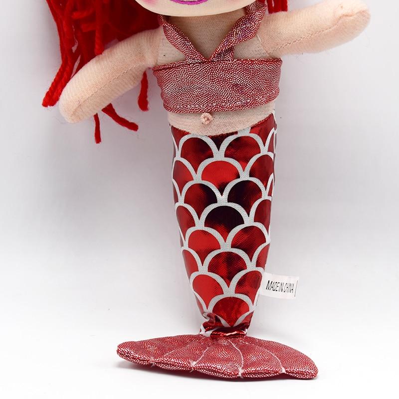 10 шт. мини-милые плюшевые Русалка мультфильм Куклы изогнутые хвост красный розовый желтый фиолетовый волосы ткань Куклы Игрушечные лошадки...