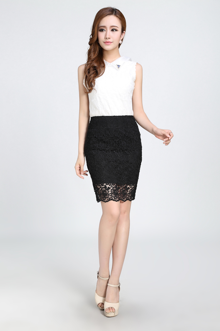 Aliexpress.com : Buy Fashion Hollow out crochet Lace Pencil Skirt ...
