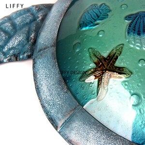 Image 5 - Turtle metalowa grafika ścienna do dekoracji ogrodowych posągi zewnętrzne i akcesoria do miniatur zwierząt rzeźby