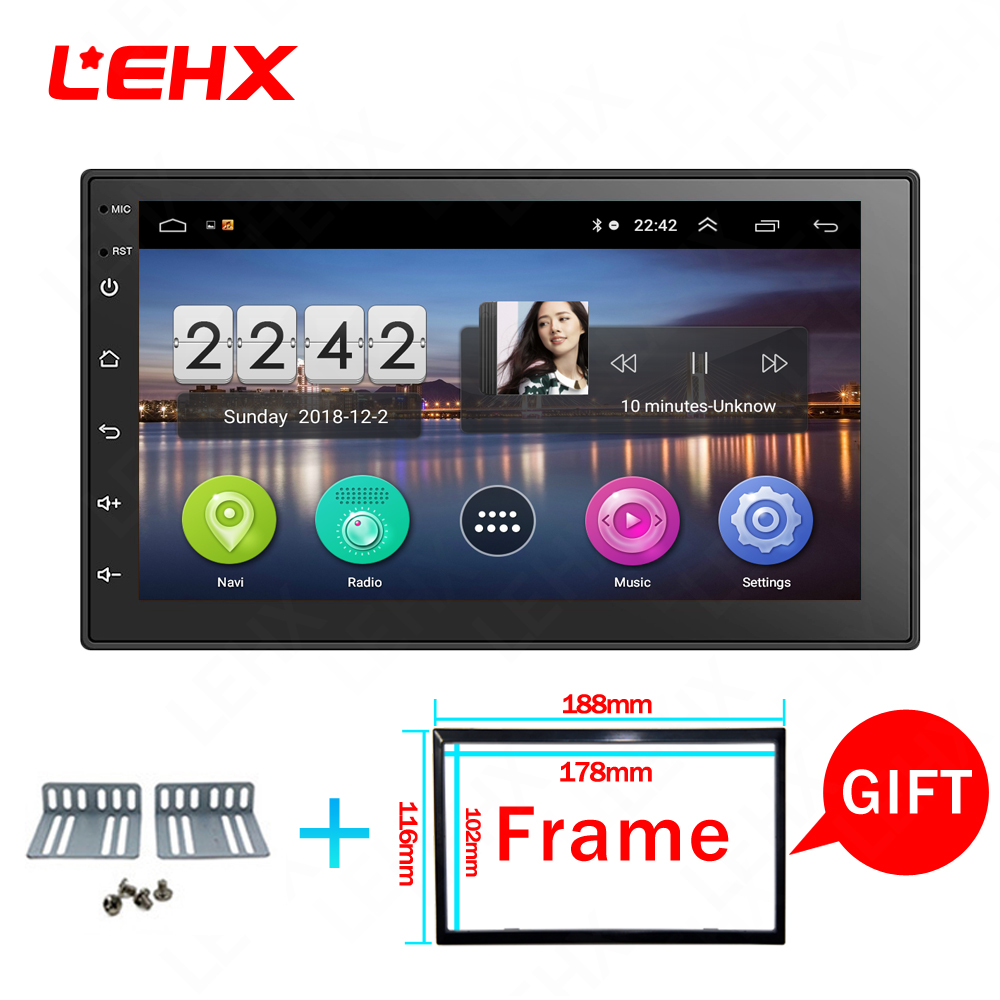 LEHX  Car Android 8.1 Car Dvd For Toyota Nissan Qashqai X Trail-note Almera Juke Multimedia Navigation Gps Universal Car Player