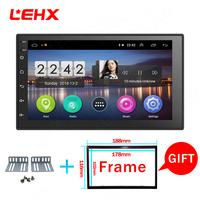 LEHX Car android 8.1 car dvd for toyota nissan qashqai x trail note almera juke multimedia navigation gps universal car player