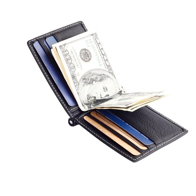 fea8f003700 492.96 руб. 50% СКИДКА|Модные новые унисекс Зажимы для денег черный  коричневый ...