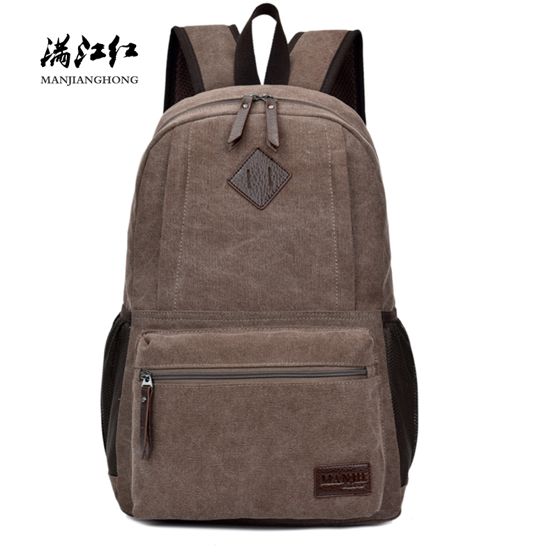 Vintage Canvas Men Laptop Backpack Bag 14 Inch Large Capacity Travel Backpack Men Casual School Backpack For Teenager Boys 1303