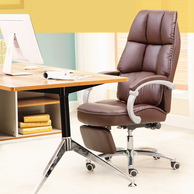 Luxury Fashion Modern Household Office Leisure Lifting Boss Chair Lying Multifunctional Rotary Computer Chair With Footrest