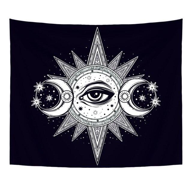 130X150cm Polyester Tapestry Mandala Bohemia Wall Hanging Animal Moon Wolf Guns Yoga Mats Beach Towel Decor Livingroom