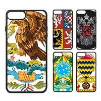 Mexico Rusland Bolivia Benin Letland Korea Nationale Embleem Land Symbool Telefoon Case voor iPhone X 7/8 Plus Gevallen Phonecase Cover