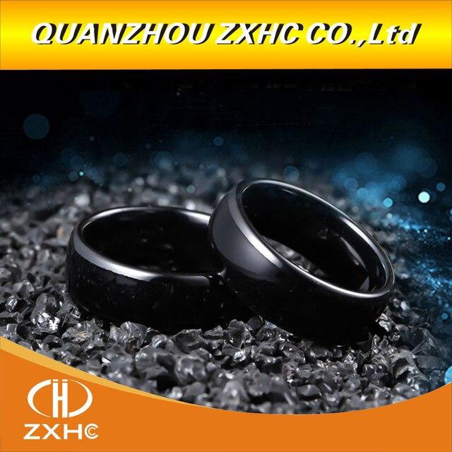 125 KHZ/13.56 MHZ RFID שחור קרמיקה חכם אצבע טבעת ללבוש עבור גברים או נשים