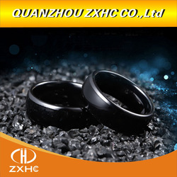 125KHZ/13.56MHZ RFID Black Ceramics Smart Finger Ring Wear for Men or Women
