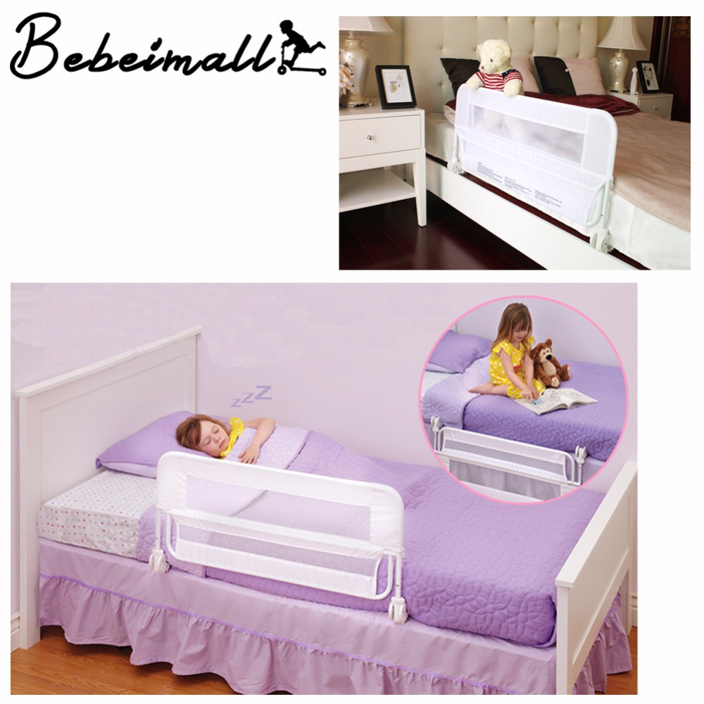 - Folding Adjustable Bed Rail Guard Safety Bumper Kids Baby Toddlers