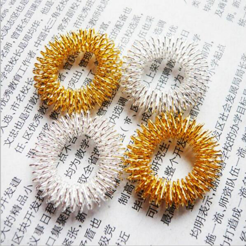 2pcs/lot Beauty & Health Finger Massage Ring Acupuncture Ring Health Care Body Massage MR009