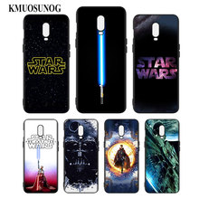 Silicone Case For OnePlus 5T 6 6T Printing Pattern Black Soft Phone Cover Star Wars Style