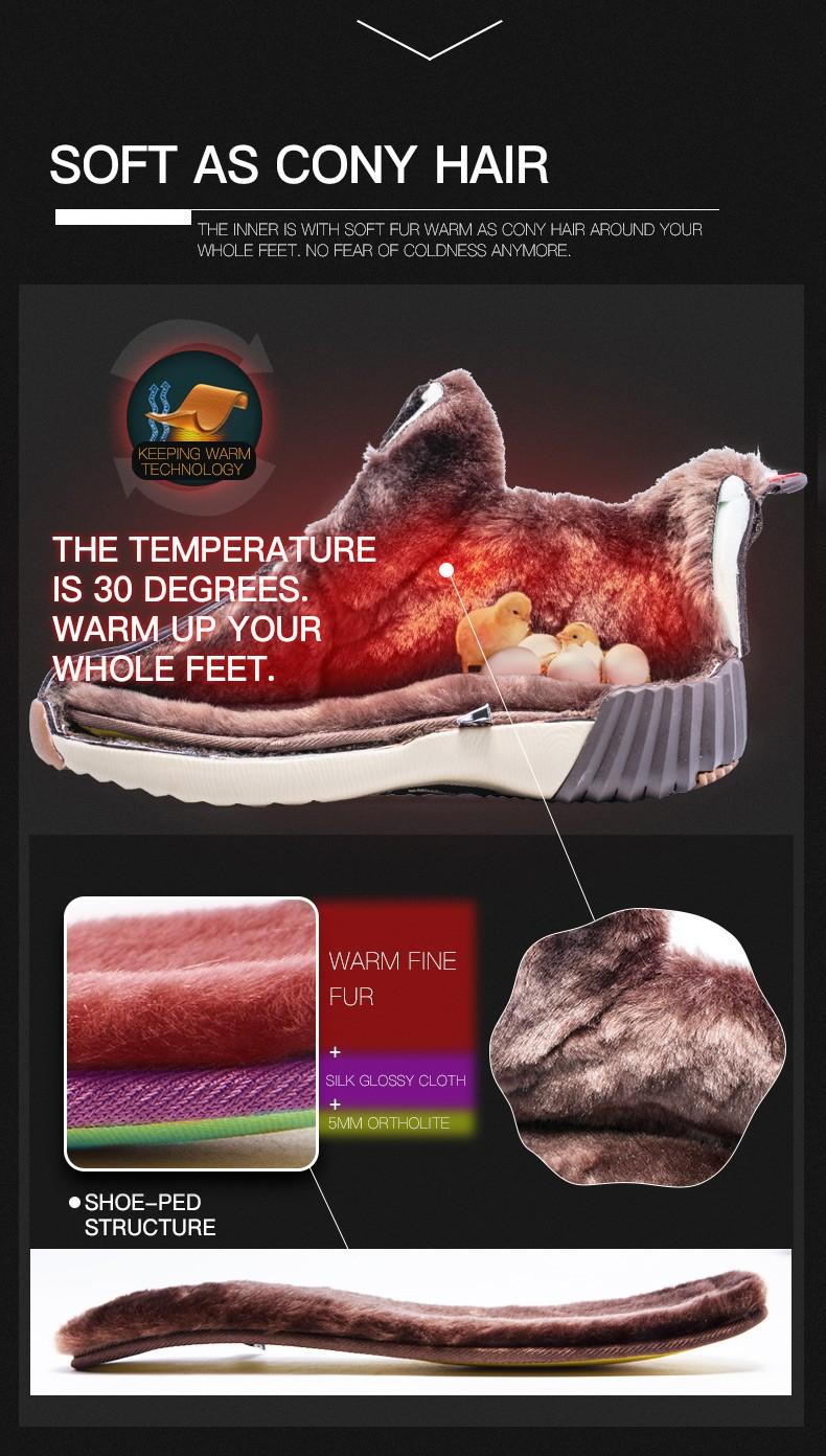 ONEMIX Winter Boots Men & Women Warm Wool Sneakers Outdoors Neutral Sports Sneakers Comfort Running Shoes Sale Size 36-45 13